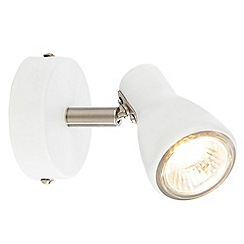 Litecraft - Kollig 1 Light Spotlight Wall Light - White