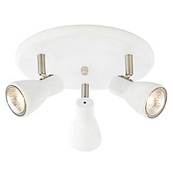 Litecraft - Kollig 3 Light Circular Ceiling Spotlight Plate - White