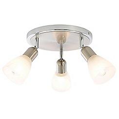 Litecraft - Rousse 3 Light Adjustable Ceiling Spotlight Plate - Satin Nickel