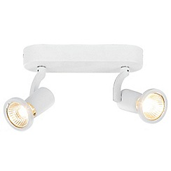 Litecraft - Foxe Die Cast Twin Ceiling White Spotlight Bar