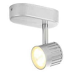 Litecraft - Travis Die Cast Ribbed LED Silver Single Spotlight