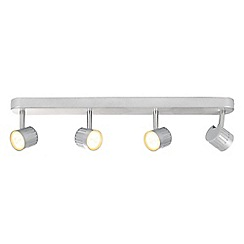 Litecraft - Travis Die Cast Ribbed LED 4 Light Silver Spotlight Bar