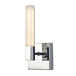 Litecraft - Reno Rectangular LED Bathroom Wall Light - Chrome