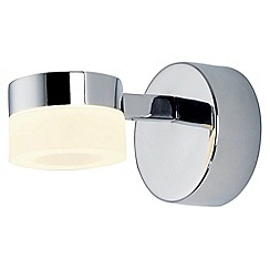 Litecraft - Calore 1 Light LED Bathroom Wall Light in Chrome
