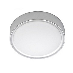 Litecraft - Bene 1 Light Circular Flush Bathroom Ceiling Light - Chrome