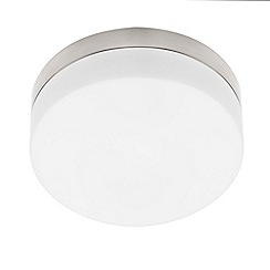 Litecraft - Trento 2 Light Circular Flush Bathroom Ceiling Light in Opal