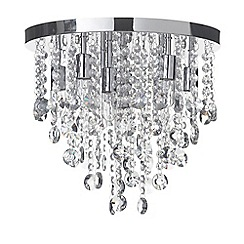 Litecraft - Turin 9 Light Semi Flush Circular Bathroom Ceiling Light - Chrome