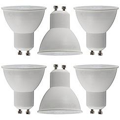 Litecraft - 6 Pack of 7 Watt GU10 LED Light Bulb - Cool White