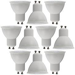 Litecraft - 10 Pack of 7 Watt GU10 LED Light Bulb - Cool White