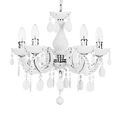 Litecraft - Marie Therese 5 Light Dual Mount Chandelier - White