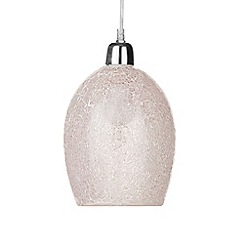 Litecraft - Tate Crackle Glass Easy to Fit Ceiling Light Shade - Pink