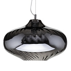 Litecraft - Belbo 1 Light Optic Glass Ceiling Pendant - Smoke