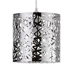 Litecraft - Ashley Easy to Fit Ceiling Light Shade - Chrome