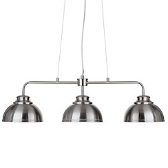 Litecraft - Brooklyn 3 Light Pendant Bar - Satin Chrome