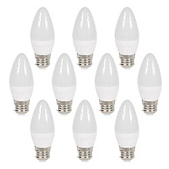 Litecraft - 10 Pack of 3 Watt E27 Edison Screw LED Candle Light Bulb - Warm White