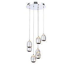 Litecraft - Egg 7 Light LED Spiral Cluster Ceiling Pendant - Chrome