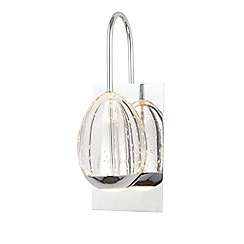 Litecraft - Egg 1 Light LED Wall Light - Chrome