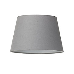 Litecraft - Soft Cotton Easy to Fit 25cm Lamp Shade - Grey