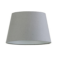 Litecraft - Soft Cotton Easy to Fit 30cm Lamp Shade - Grey
