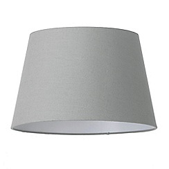 Litecraft - Soft Cotton Easy to Fit 35cm Lamp Shade - Grey