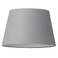 Litecraft - Soft Cotton Easy to Fit 40cm Lamp Shade - Grey