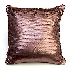 Litecraft - Glitz Sequin Cushion - Bronze