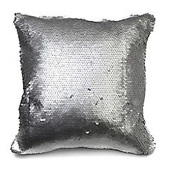 Litecraft - Glitz Sequin Cushion - Silver