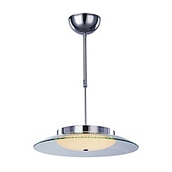 Litecraft - Quartz Semi Flush Ceiling Pendant Light - Chrome