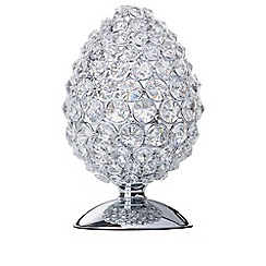 Litecraft - Teggle Crystal 1 Light Table Lamp - Chrome