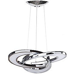 Litecraft - Infinity LED Ceiling Pendant - Chrome