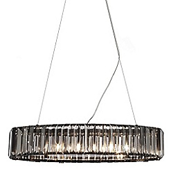 Litecraft - 5 Light Chisel Prism Bar Ceiling Pendant - Smoke