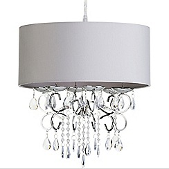 Litecraft - Easy to Fit Drum Shade Chandelier - Grey