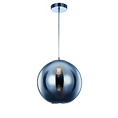 Litecraft - Small Oberon 1 Light Ceiling Pendant - Chrome