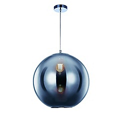 Litecraft - Large Oberon 1 Light Ceiling Pendant - Chrome