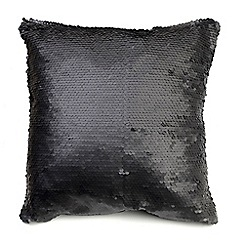 Litecraft - Glitz Sequin Cushion - Black
