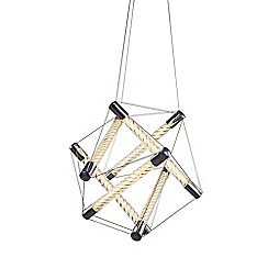 Litecraft - Spiro Tubular Polygon LED Ceiling Pendant - Chrome