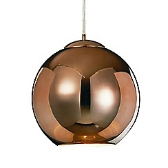 Litecraft - Medium Oberon 1 Light Ceiling Pendant - Copper