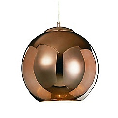 Litecraft - Large Oberon 1 Light Ceiling Pendant - Copper