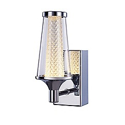 Litecraft - Aura Single LED IP44 Rated Wall Light - Chrome