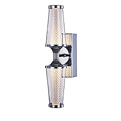 Litecraft - Aura Double LED IP44 Rated Wall Light - Chrome