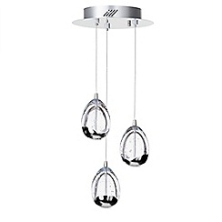 Litecraft - Tegg 3 Light Ceiling Light Cluster Pendant - Chrome