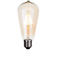 Litecraft - 4 Watt E27 Dimmable Decorative Filament LED Tear Drop Light Bulb - Gold Tint
