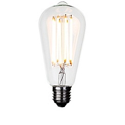 Litecraft - 8 Watt E27 Dimmable Decorative Filament LED Tear Drop Light Bulb - Clear