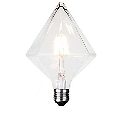 Litecraft - 6 Watt E27 Dimmable Decorative Filament LED Diamond Light Bulb - Clear