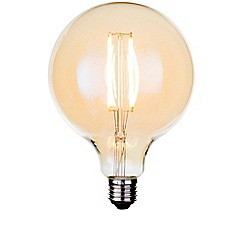 Litecraft - 4 Watt E27 Dimmable Decorative Filament LED Large Globe Light Bulb - Gold Tint