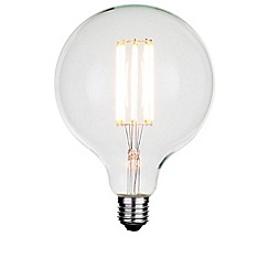 Litecraft - 8 Watt E27 Dimmable Decorative Filament LED Large Globe Light Bulb - Clear