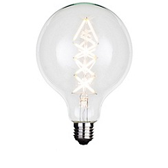 Litecraft - 6 Watt E27 Dimmable Decorative Filament LED Large Globe Light Bulb - Clear