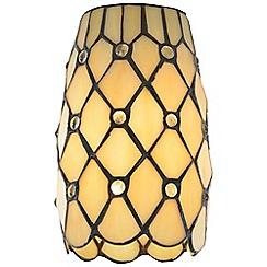 Litecraft - Tiffany Jewel Easy to Fit Lamp Shade - Honey