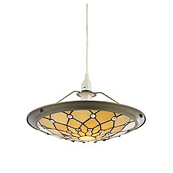 Litecraft - Tiffany Jewel Easy to Fit Ceiling Uplighter Shade - Honey