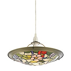Litecraft - Tiffany Floral Easy to Fit Uplighter - Multi Coloured